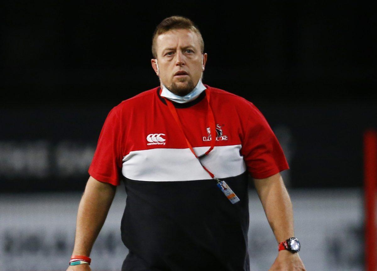 Lions defence coach Sean Erasmus
