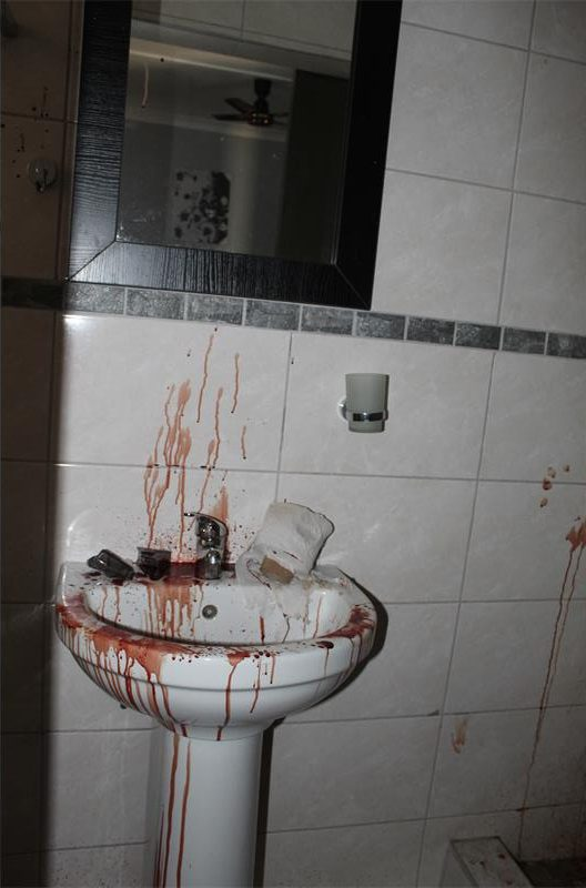 Bloody guesthouse bathroom