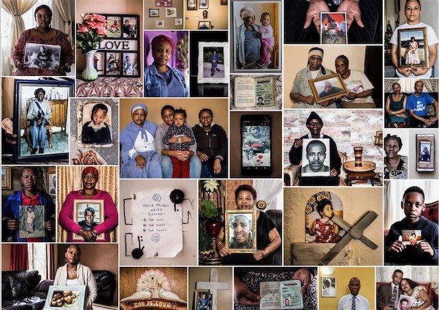 A collage of Life Esidimeni families