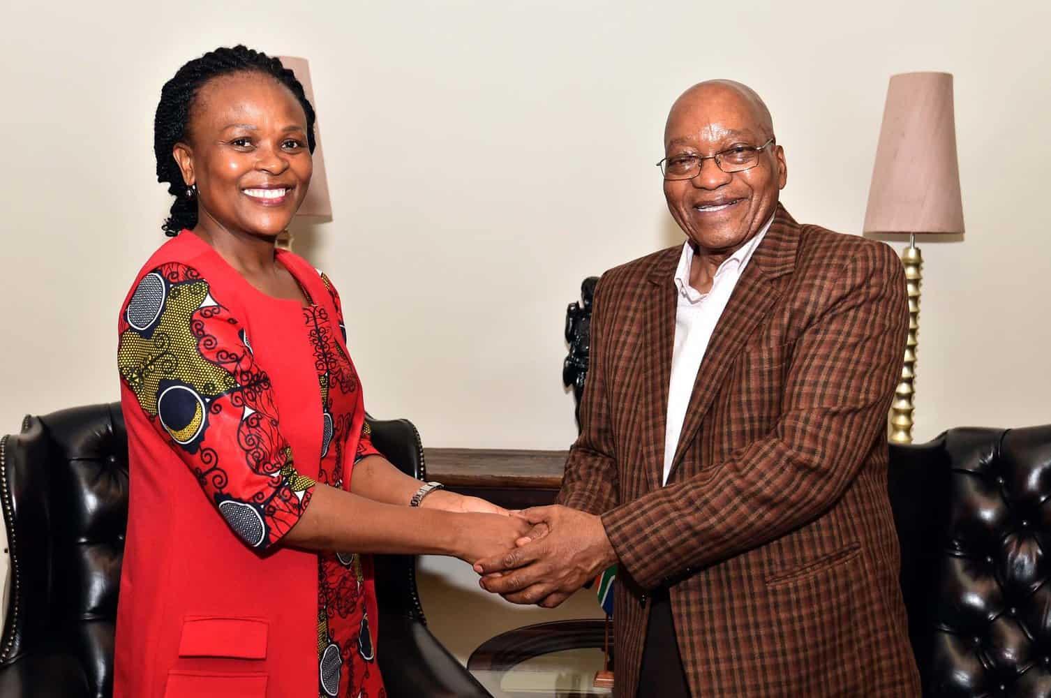 Former president Jacob Zuma and Public Protector Busisiwe Mkhwebane