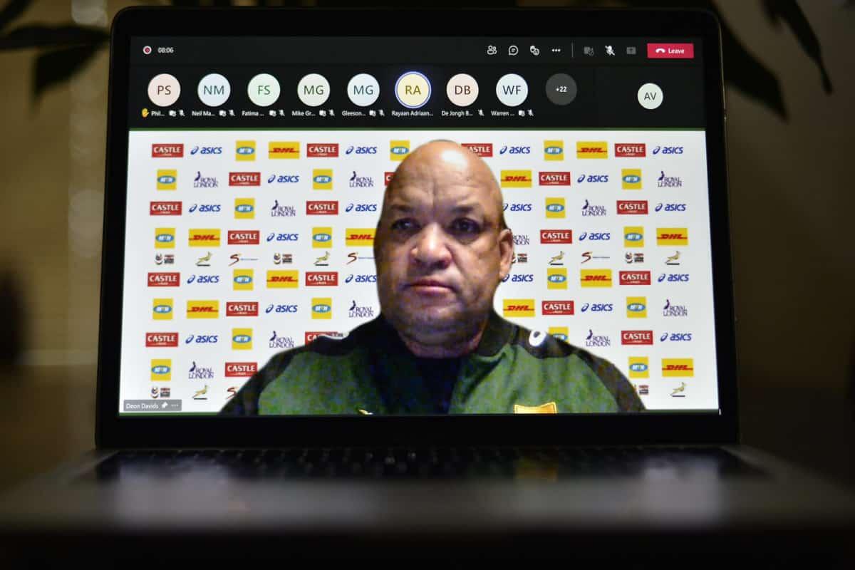 Springbok forwards coach Deon Davids