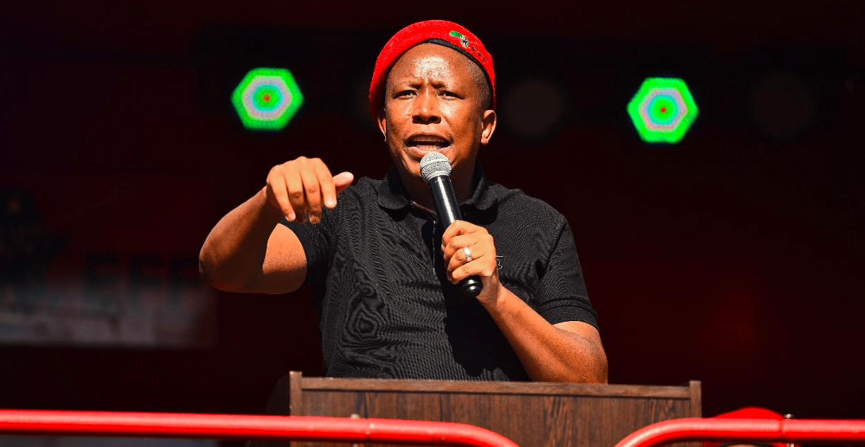 Julius Malema speaking on youth day