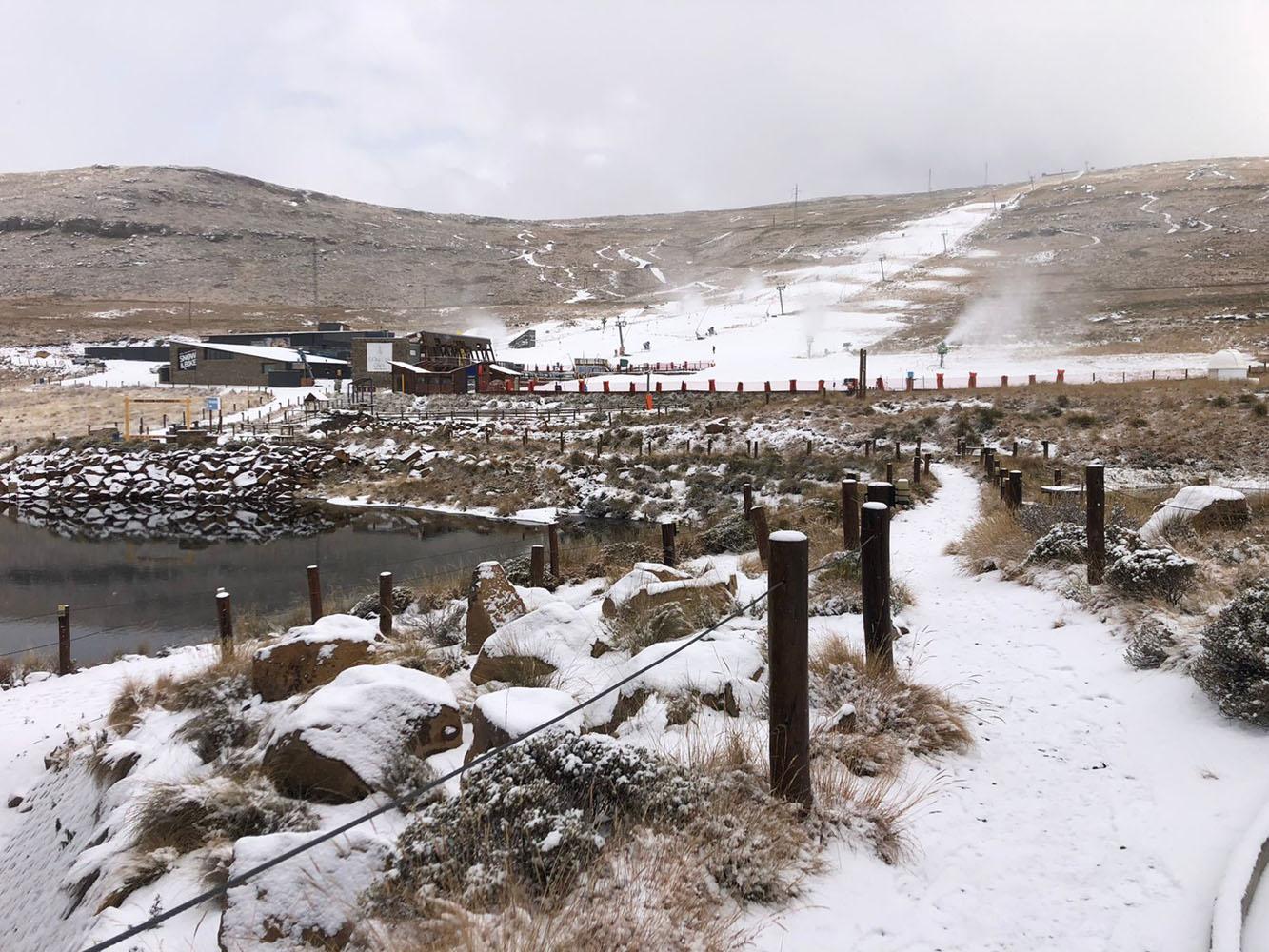 Snow at Afriski Mountain resort