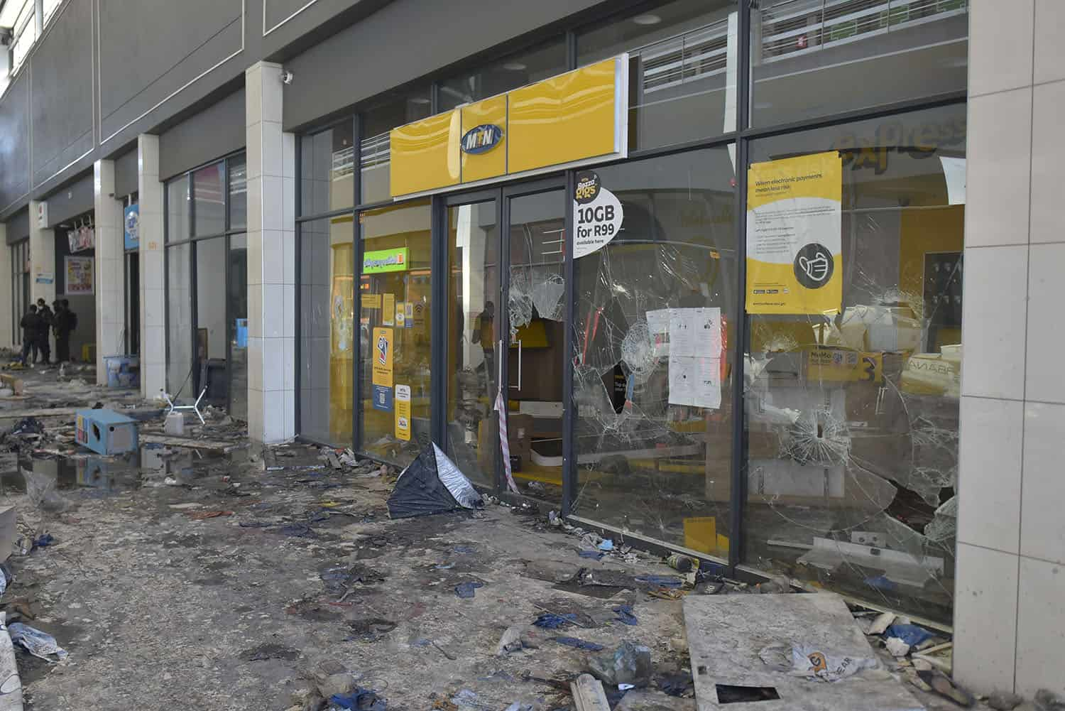 The Pan Africa Mall in Alexandra, 14 July 2021 after mass looting happened in the area. Picture: Neil McCartney