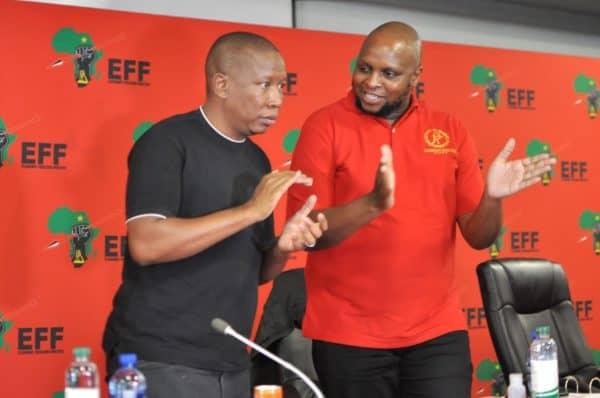 EFF leader Julius Malema and Floyd Shivambu. Picture: Gallo Images