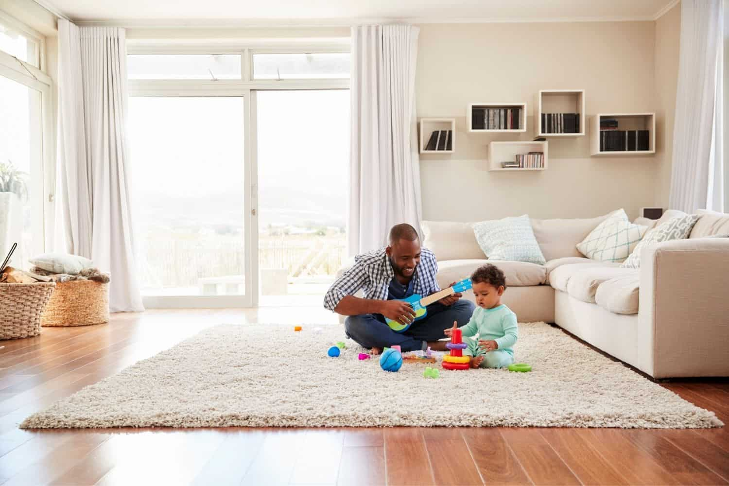Insulate with rugs