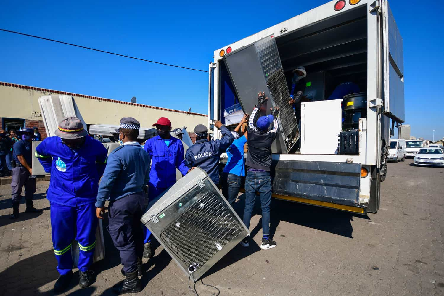 Police confiscate suspected looted goods in Durban CBD