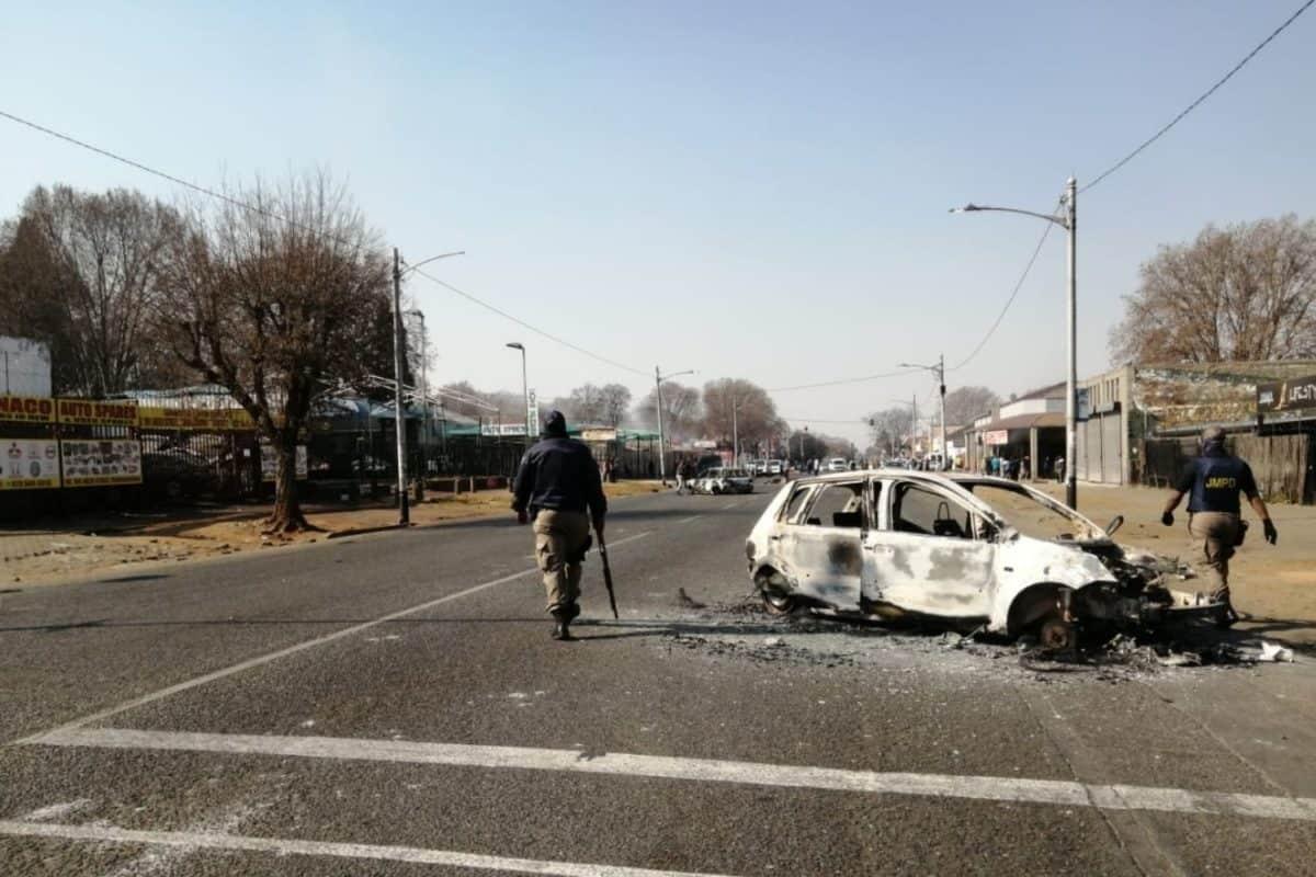 gauteng shutdown protests jacob zuma johannesburg