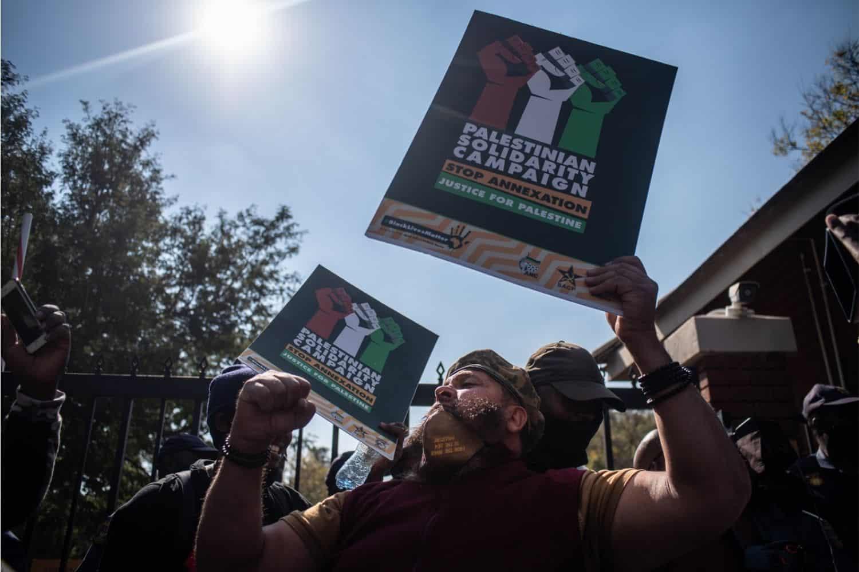 ANC protest Israel Palestine