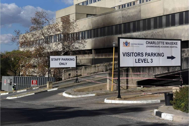 Fire-ravaged Charlotte Maxeke Hospital plundered after computers, TV, fridge stolen