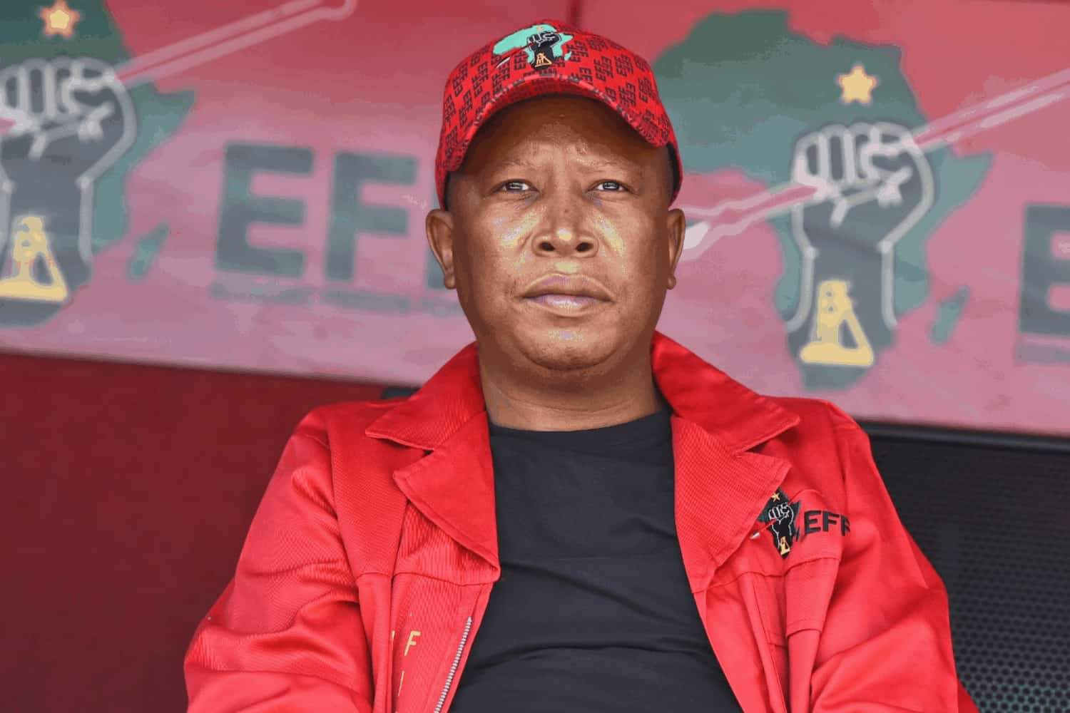 EFF leader Julius Malema speaking during a community meeting in Diepsloot, 11 September, 2021. Picture: Twitter @EFFSouthAfrica