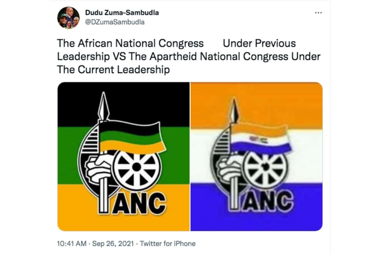 Dudu Zuma renames ruling party's current leadership 'Apartheid National Congress'