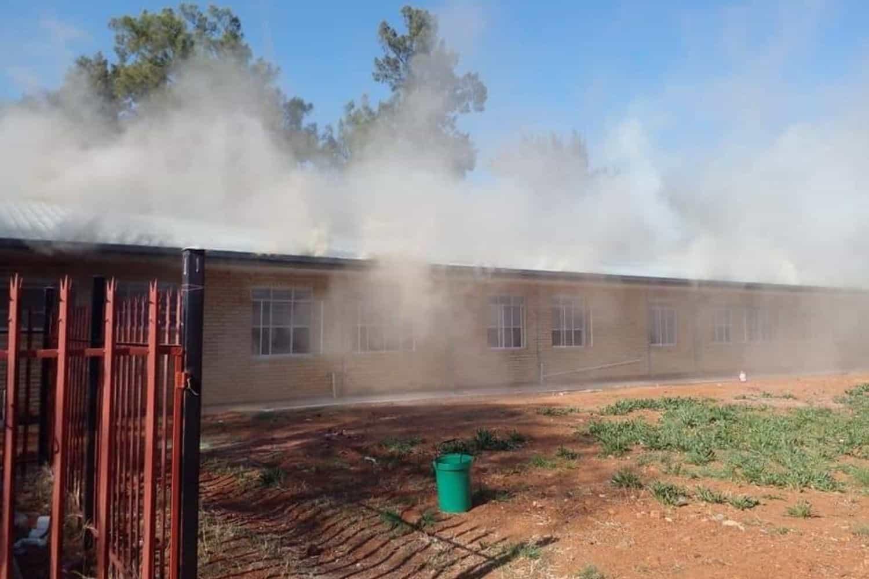 PICS: Christiana Hospital in North West battles blaze