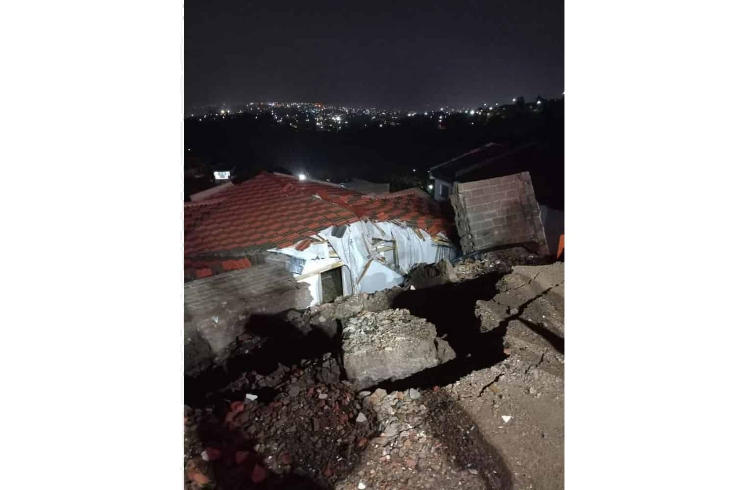 Teen killed, woman trapped after wall collapses onto home in KZN